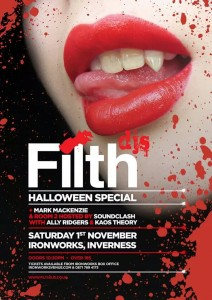 Filth DJs Halloween 2014 Flyer