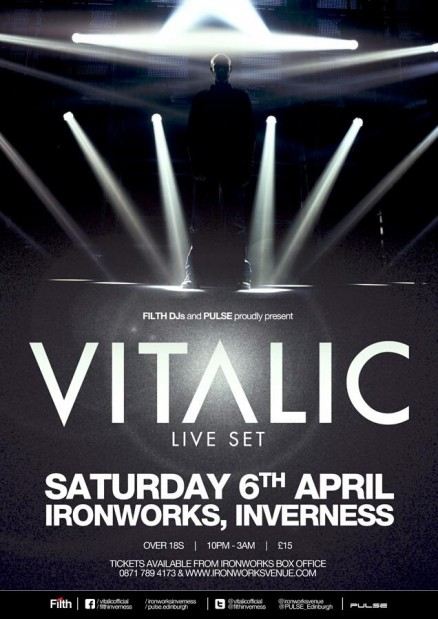 Filth DJs and Pulse pres. Vitalic LIVE Flyer 2013