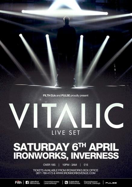 Filth DJs and Pulse pres. Vitalic LIVE Flyer 2013