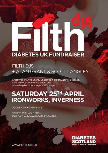 FilthDjs Diabetes UK Fundraiser 2015